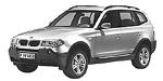 Oryginalne części samochodowe do BMW Seria X3 E83 SAV