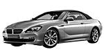 Oryginalne części samochodowe do BMW Seria 6' F12 Cabrio